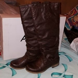 ALDO Brown Gunther Boots, size 7. New
